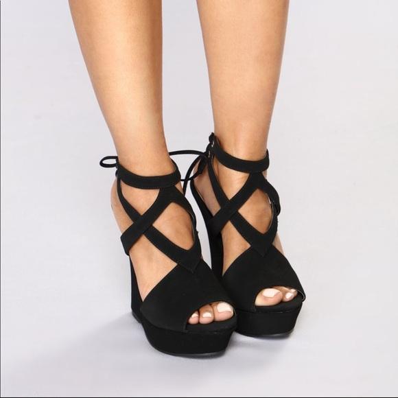 63bff86edfd Fashion Nova Shoes - Black wedges
